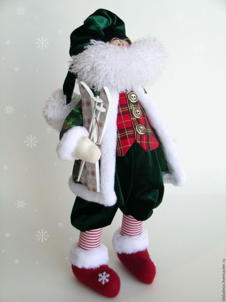 Купить Санта Клаус 2 - тёмно-зелёный, санта клаус, санки, олень, рождество, подарки