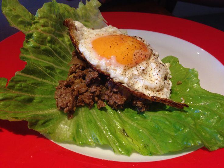 Thai minced beef lettuce wrap