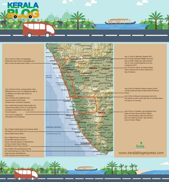 Top Hotels in Kerala, op de Keralablogexpress route.