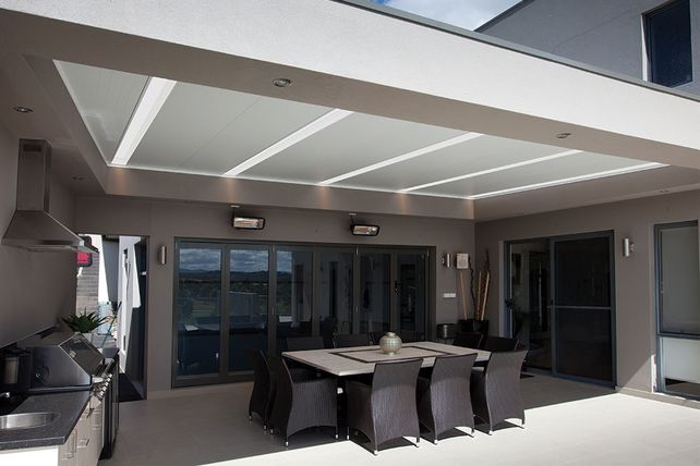 Create a comfortable outdoor living space with insulated roof profile http://www.shademaster.com.au/shademaster/products/insulated-roof-panels/