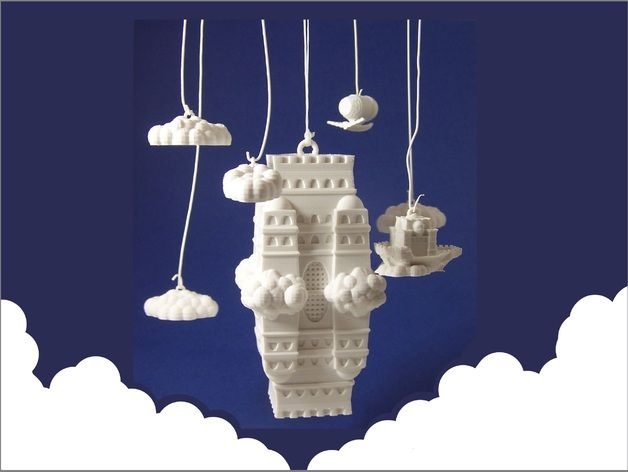The Impossible Castle (Ornamental Mobile) by dutchmogul - Thingiverse