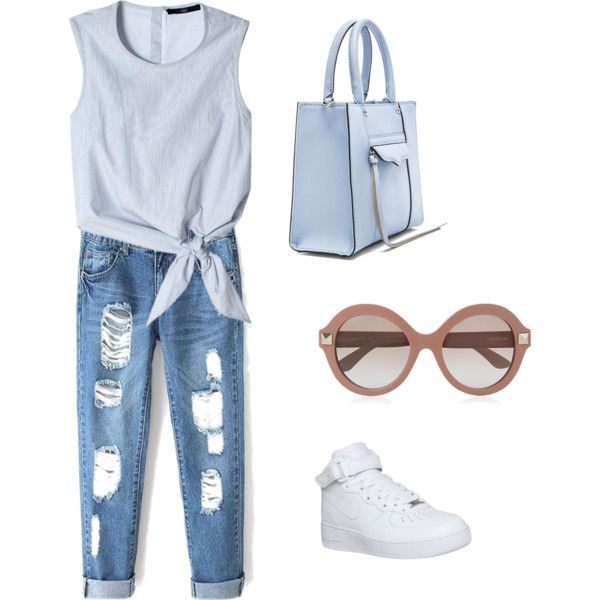 Untitled #3 by polymaven-579 on Polyvore featuring polyvore fashion style TIBI NIKE Rebecca Minkoff Valentino