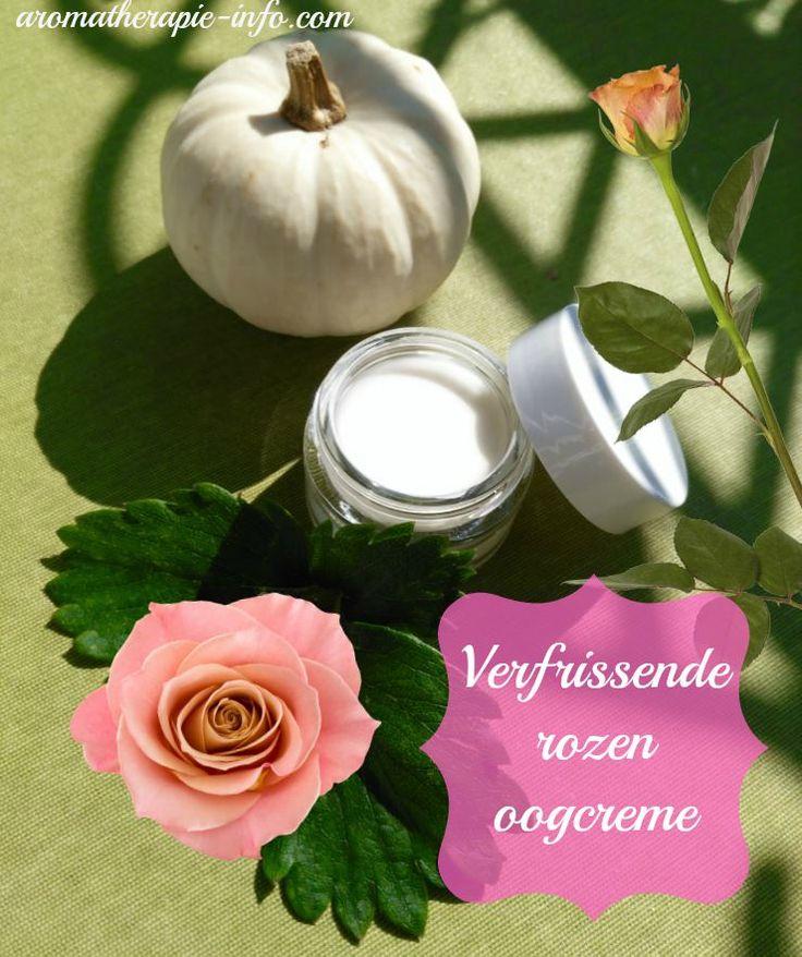 Deze rozen oogcreme heeft maar twee ingredienten en ruikt heerlijk. Werkt verfrissend en verzachtend voor de tere huid rondom de ogen.