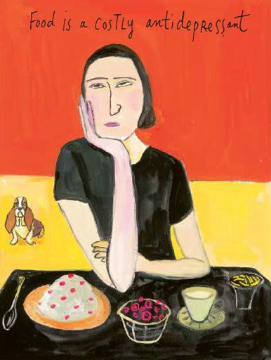 """in love with Maira Kalman's illustrations (this is for Michael's Pollan's """"Food Rules)"""