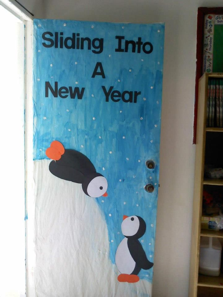 Classroom Ideas For New Years ~ Sliding into a new year room mom pinterest bulletin