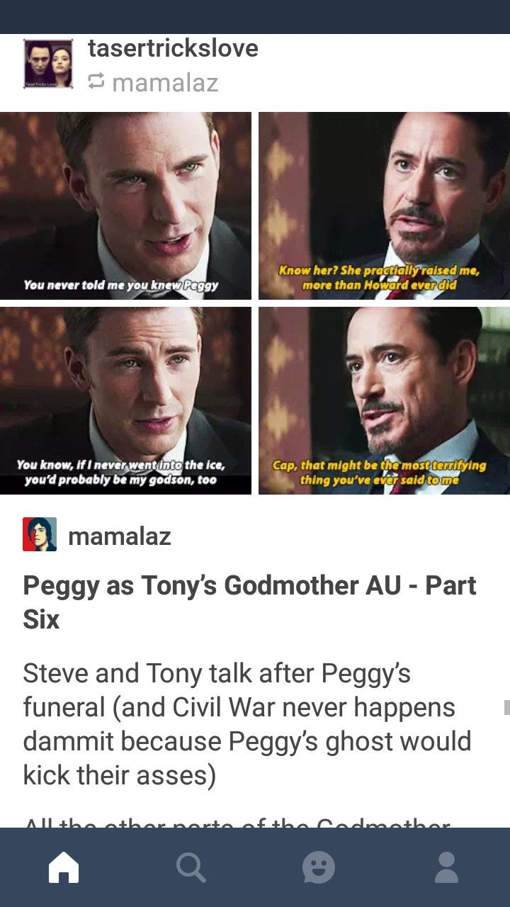 I don't know about the AU, but I want Peggy's ghost to haunt the shit out of everyone that took part in the foolishness of AOU and CACW.