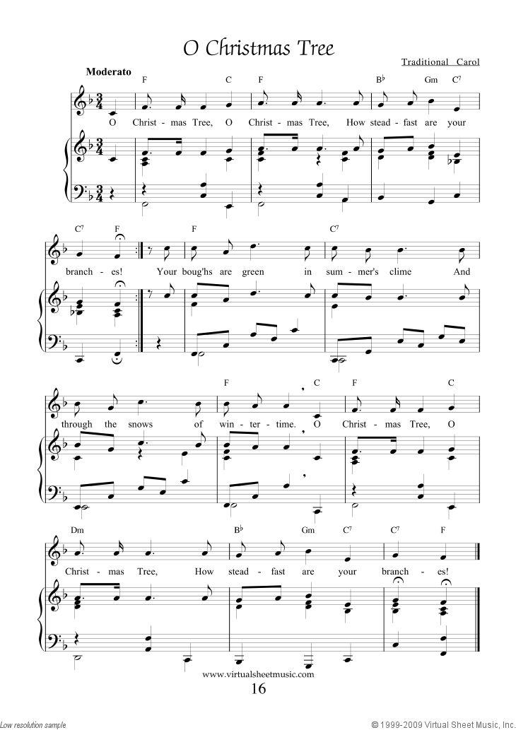 Free Printable Christmas Sheet Music | Christmas Tree from our Christmas Collection No. 1 :