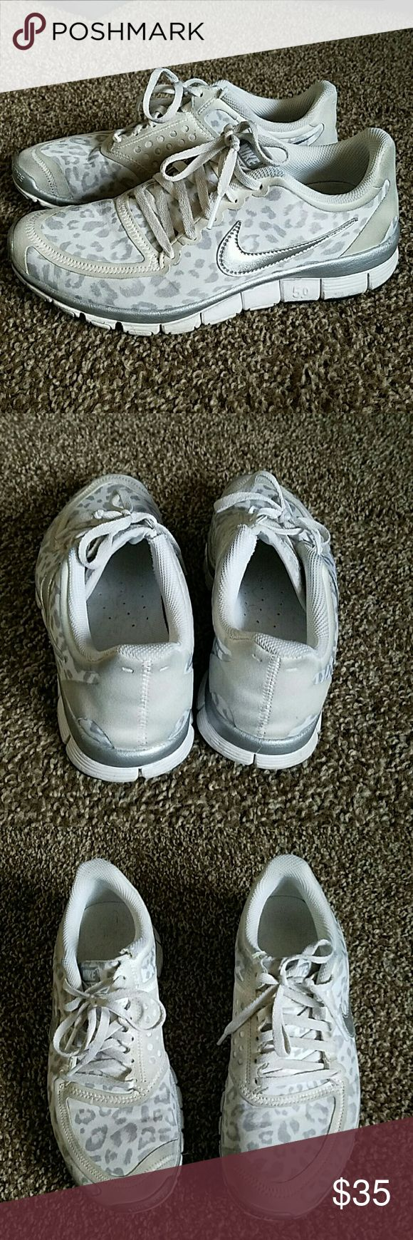 Leopard nikes In good used condition - these are a little dirty. Nike Shoes Athletic Shoes