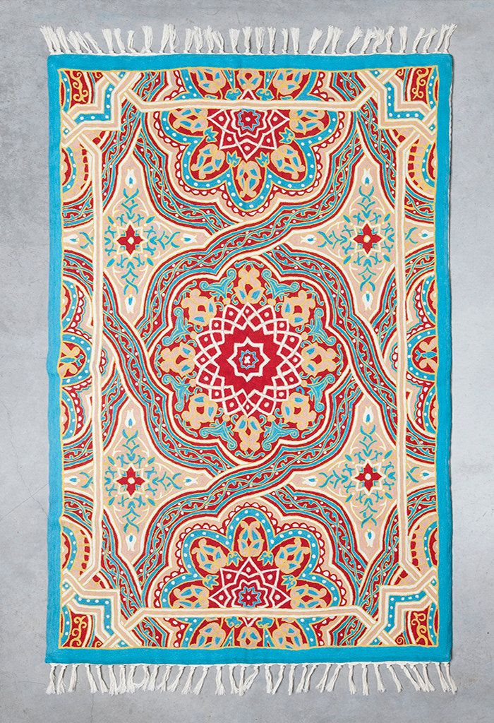 Mandala rug, 5x8 area rug, turquoise area rug,area rug for sale,affordable area rugs,oriental rugs for sale,room size rugs, FREE SHIPPING! by Carpetism on Etsy