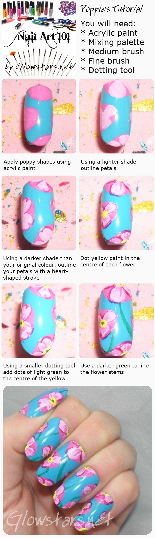 Nail Art 101: Poppies Tutorial