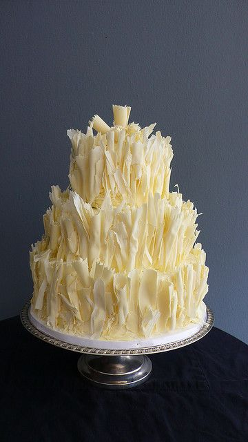 Shaved White Chocolate (carrot cake) Wedding cake by CAKE Amsterdam - Cakes by ZOBOT,