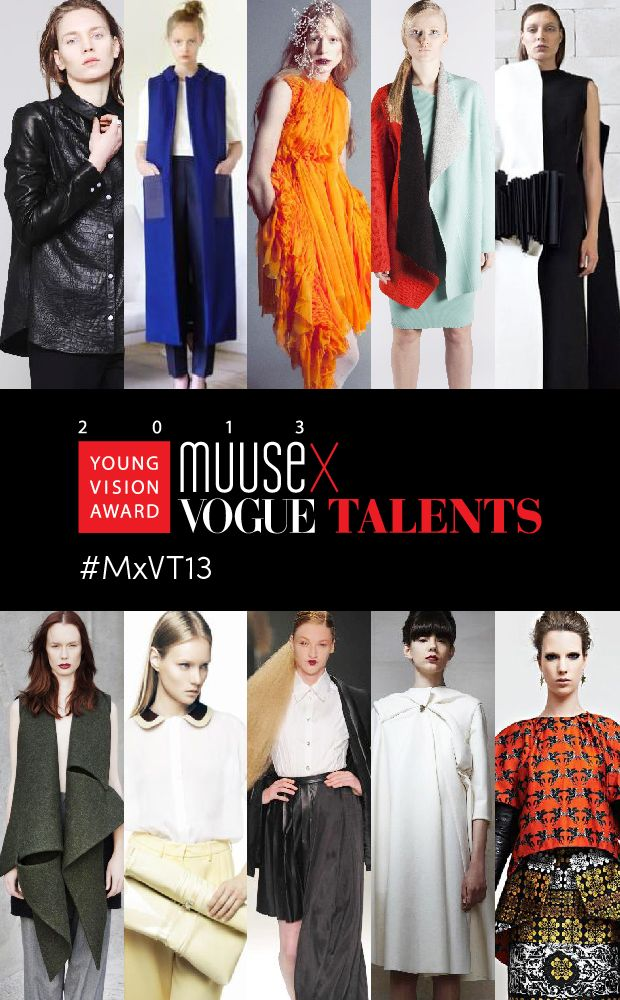 Announcing the 10 Finalists of the MUUSE x VOGUE Talents Young Vision Award 2013