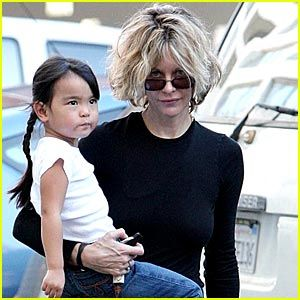 Meg Ryan and adopted daughter Daisy True Ryan