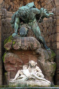 Fontaine de Medicis in The Jardin du Luxembourg, Paris.