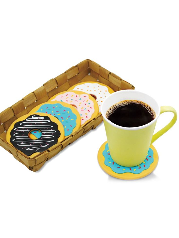 4PCS Thermal Insulation Skidproof Doughnut Table Coasters