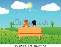 """Képtalálat a következőre: """"city view from a bench vector"""""""