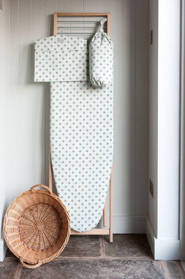 Garden Green Grey Ironing Board Cover