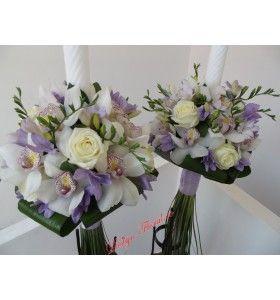 Lumanari nunta orhidee si frezii