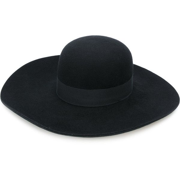 Emporio Armani wide brim felt hat ($210) ❤ liked on Polyvore featuring accessories, hats, black, wide brim hat, felt hat, emporio armani and wide brim felt hat