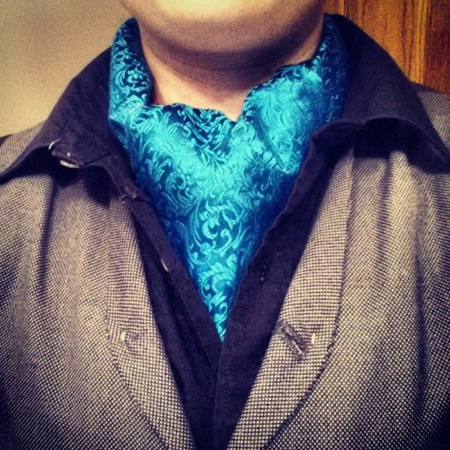 Dappers, Dandys, Gents, and Bois. Happy spring. Take a look at this beautiful bright blue cravat/ascot. Get Dashing! Visit my Dashing Masher store on Etsy to buy this beauty! #dapper #dandy #menswear #mensstyle #mensfashion #fashion #ascot #cravat #style #dappertradition #neckwear #fancy #handsome #gent #gentleman #boi #lesbian #swag #suitup #dashing