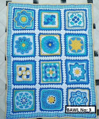 Ravelry: Maryfairy's B.A.W.L. CAL Baby Blue Bankets - 3 4