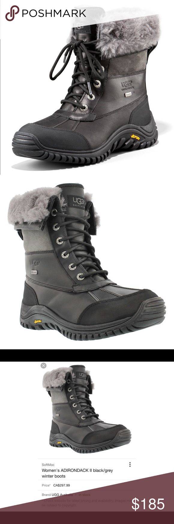 Ugg Australia Vibram Waterproof Size 6 Beautiful UGG waterproof boot in size 6. Literally worn once. The food still has the sticker under on sole area. In excellent condition. Boot is black and gray very comfortable get this for a fraction of the price. No box no returns. Thank you so much for looking. ☺️ UGG Shoes