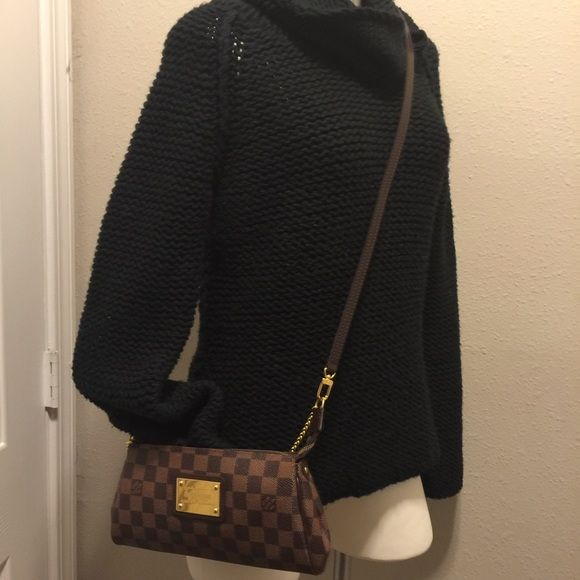 Loui Vuitton  LOUIS VUITTON EVA DAMIER practically brand-new used a few times.  A few spots on the inside. Louis Vuitton Bags Crossbody Bags