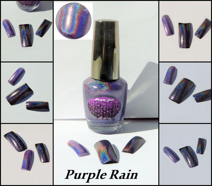 Purple rain, By Arwenn Holographic nail polish