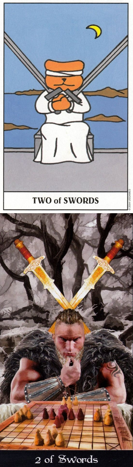 Two of Swords: stalemate and lesser of two evils (reverse). Gummy Tarot deck and Apokalypsis Tarot deck: tarot free on line, tarot waite and tarot online besplatno. The best tarot art and predictions of the future.