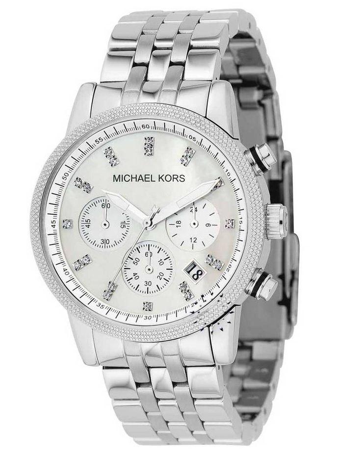 MICHAEL KORS Ladies Chrono Crystal Stainless Steel Bracelet