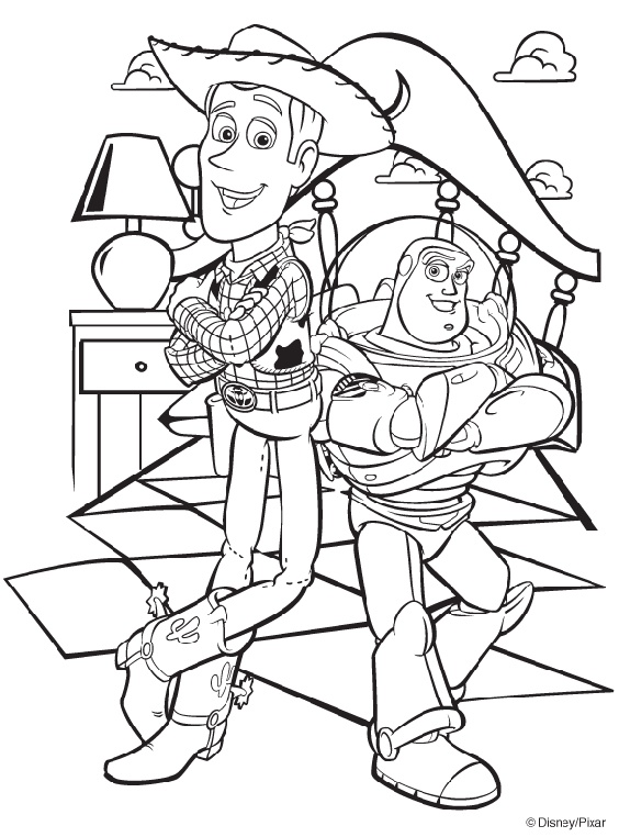 Toy story coloring book for entertainment