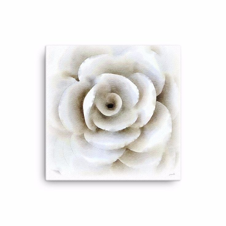 This white watercolor is my own creation. This canvas print is sure to make a statement in any space. It's hand-stretched on a poly-cotton blend canvas with a m