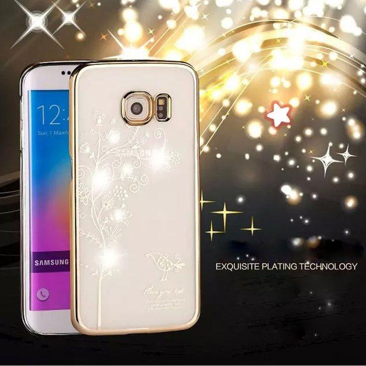 2015 Newest Luxury Crystal Rhinestone Case Cover For Samsun Galaxy S6