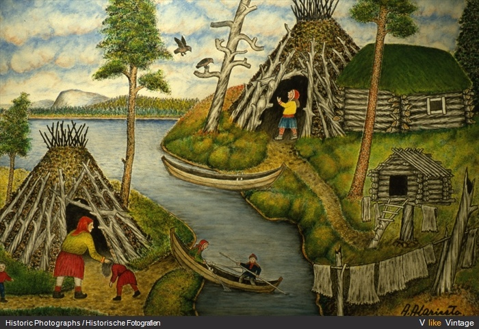 Finnland-Lappland - Gemälde von Andreas Alariesto