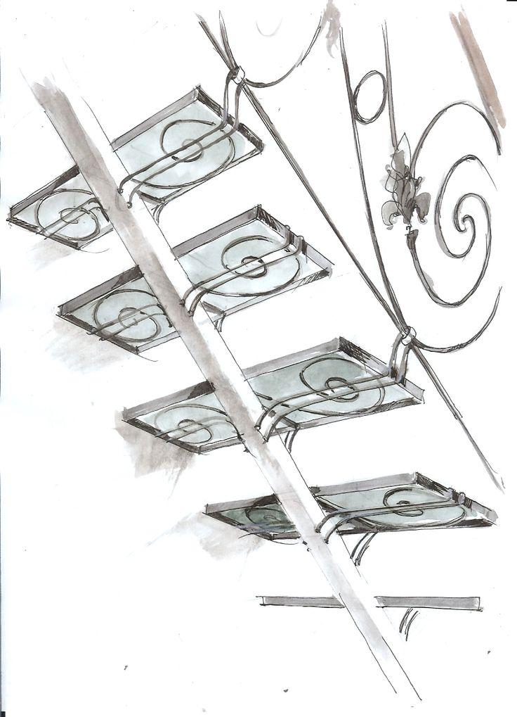 Эскизы и чертежи,  лестница в дом. Звоните напрямую ведущим специалистам и не являетесь заложником настроения секретарей по тел-ну +7 (495) 784-43-78 http://www.metal-made.ru/