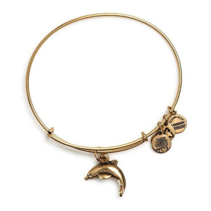 alex &ani bracelets   Alex and Ani Dolphin Charm Bangle Bracelet - Russian Gold Finish ...