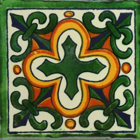 Traditional Mexican Tile - Flor de Liz