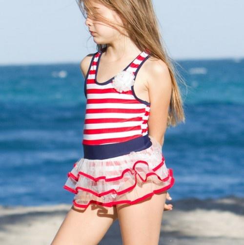 Striped Sailor Swim Suit.