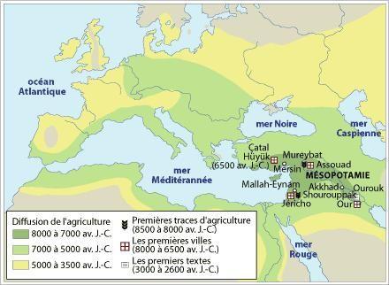 Néolithique au Proche-Orient (-8500 AV JC)