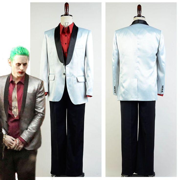 High Quality Batman Suicide Squad Jared Leto Joker Halloween Cosplay Costume For Adult Men Custom Made