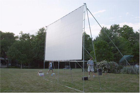 outdoor projector screen kit backyard pinterest