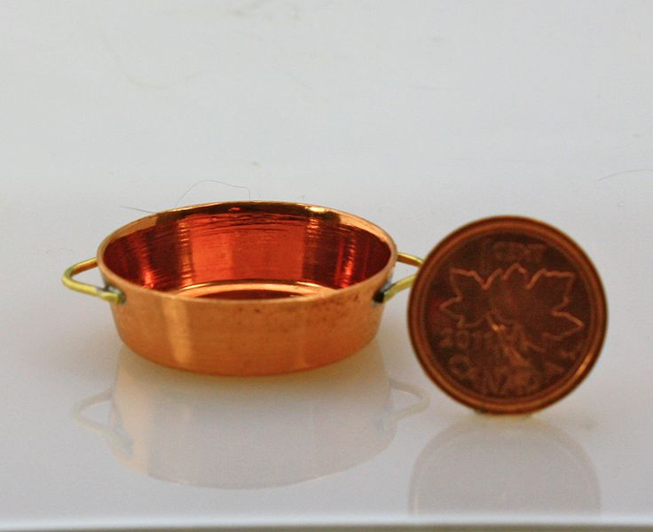 Solid copper 1/12 scale jelly pan.  Handmade  $ 17.60 USD Buy it from Small Scale Showcase We ship worldwide