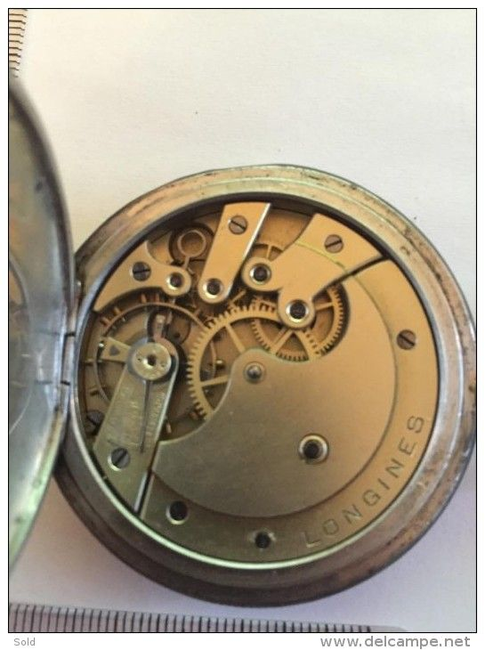 Longines 1904 Niello Pocket Watch Hunting Case Art Nouveau Gold and Silver - Extremely Rare !