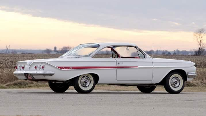 "1961 Chevrolet ""bubble top"" 2 door hardtop."