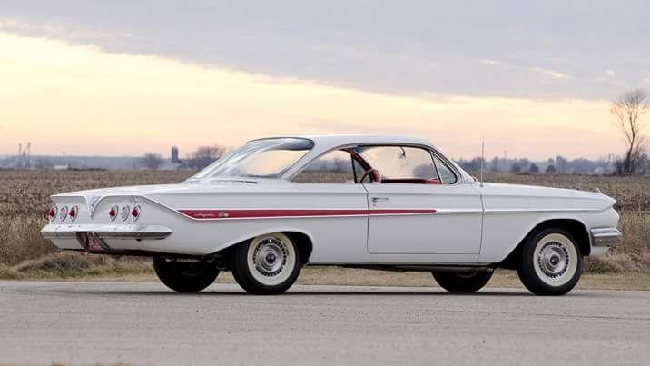 """1961 Chevrolet """"bubble top"""" 2 door hardtop."""