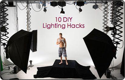 Lighting Hacks10 Diy, Digital Photographers, Diy Photography Lights, Diy Photography Equipment, Lights Hacks, Diy Lights, Lights Ideas, Digital Photography, Diy Photography Lighting Hacks