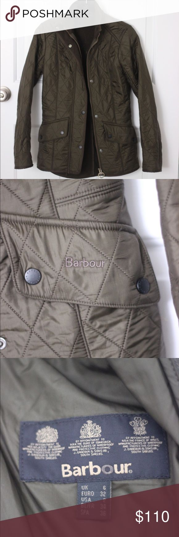 Barbour Quilted Jacket In excellent condition! Barbour quilted jacket in size 2! Barbour Jackets & Coats
