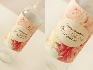 Etykiety na butelki - Amelia wedding
