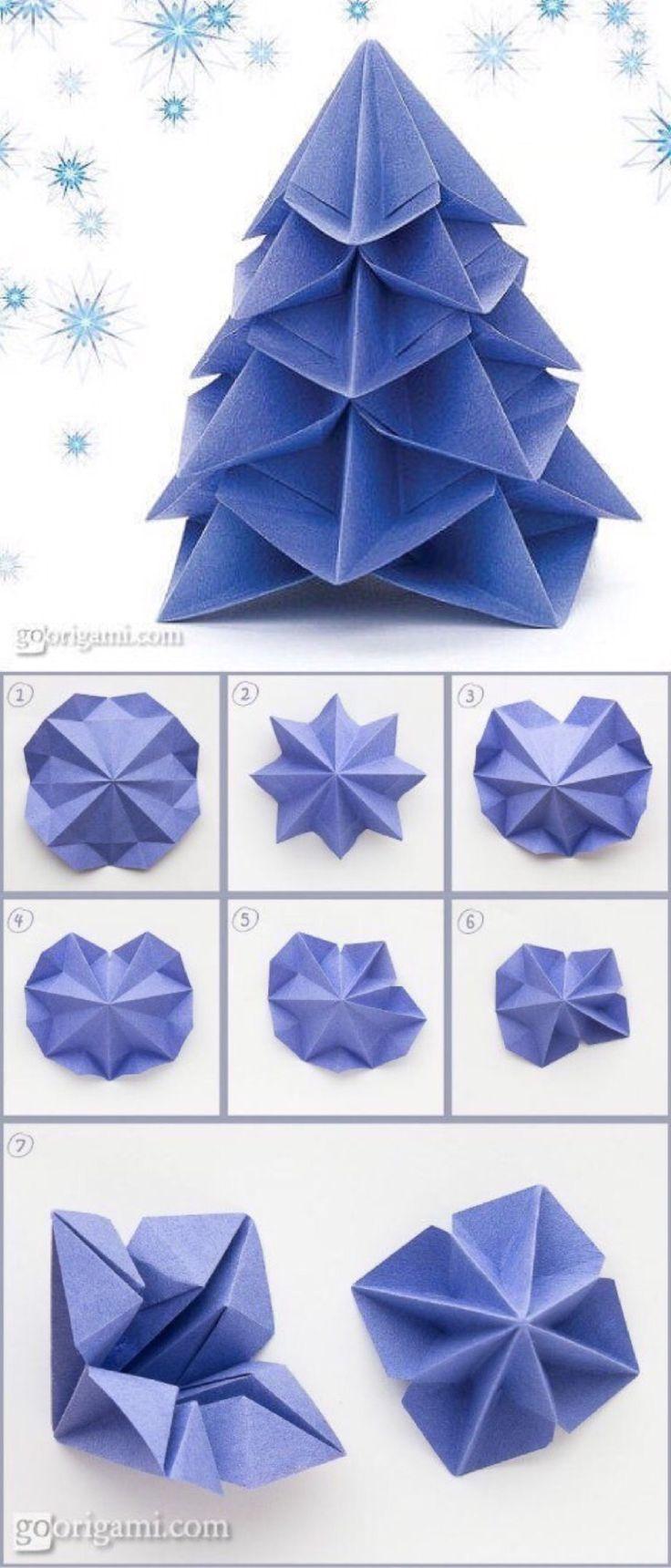Árbol de navidad, origami.