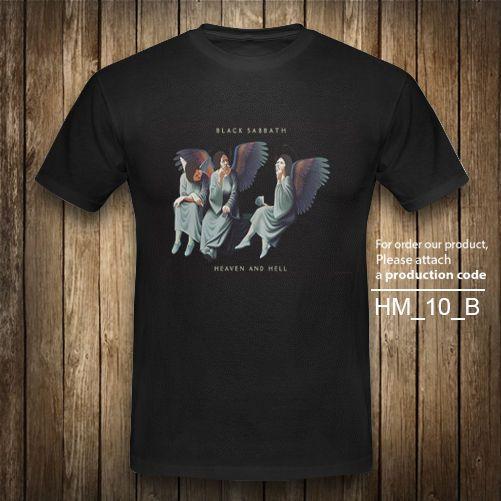 BLACK SABBATH Heaven Hell Heavy Metal Rock T-shirt Vintage Black Graphic XS-2XL #Unbranded #GraphicTee